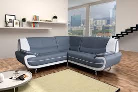 canapé angle gris blanc amanda canapé d angle similicuir gris blanc 2a2 degriffmeubles