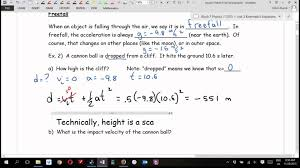 How To Send A Business Email Examples by Physics 11 U3l5 More Freefall Examples Part 1 Youtube