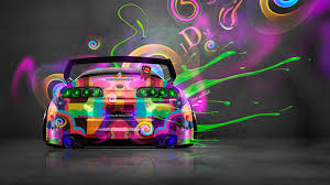 super colorful super car tony kokhan colorful toyota supra jdm wallpapers hd