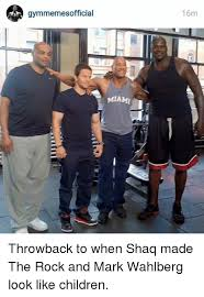 The Rock Gym Memes - gymmemesofficial mami i 16m throwback to when shaq made the rock and