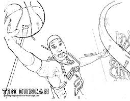 image gallery nba player coloring pages