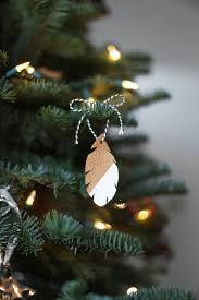 Homemade Christmas Ornaments Ideas by Diy Leather Feather Christmas Ornaments Leather Couch Chronicles