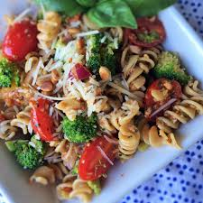 Simple Pasta Salad Recipe Fresh Vegetable Pasta Salad With Sun Dried Tomato Pesto Inside