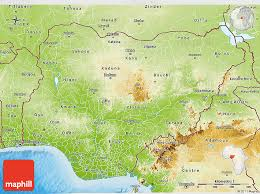 nigeria physical map physical 3d map of nigeria