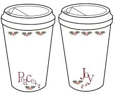 crochet christmas holiday coffee cup cozy to go cup template