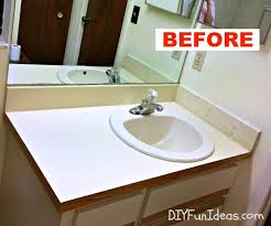 bathroom vanity makeover ideas diy concrete counter overlay vanity makeover