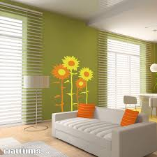 two color sunflower decal sticker