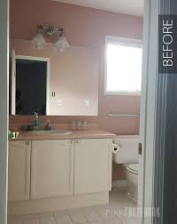 paint bathroom ideas updating an bathroom vanity pink notebookpink