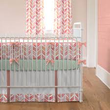 Nursery Bedding And Curtains Coral Crib Bedding Charming And Trend Home Inspirations Design