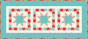 free quilt patterns geo tablerunner pattern quarter shop