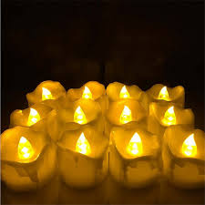popular halloween flickering lights buy cheap halloween flickering 24pcs yellow flicker battery candles plastic electric candles