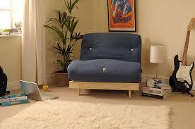 Single Sofa Bed Wooden 2ft6 Small Single Wooden Futon Set With Navy Mattress Amazon Co