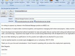 24 sample email cover letter with resume included sample email