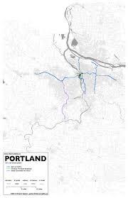 Portland Transit Map by 19 Portland Intermodality