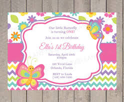 items similar to butterflies birthday invitation spring