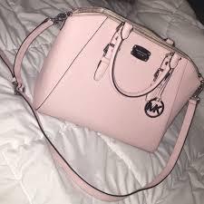 light pink michael kors handbag 47 off michael kors bags authentic light pink tote bag poshmark