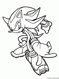 coloring page shadow the hedgehog