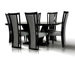 Marble Dining Room Sets Libra Modern Black Marble Dining Set