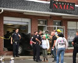 elderly woman runs car into nail salon connecticut post
