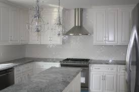 White Kitchens With Granite Countertops Kitchen Amazing White Kitchen With Glass Tile Backsplash White