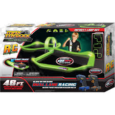 max traxxx u0026 160 tracer racer glow in the dark r c infinite loop