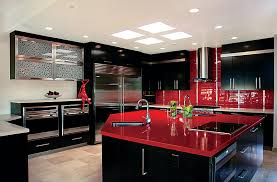Black Kitchen Decorating Ideas Pictures Red And Black Kitchen Decor Free Home Designs Photos
