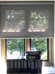 sunscreen roller blind for historic property steel grey