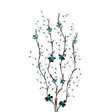 decorating white lighted branches with mermaid vase for living