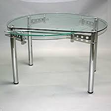 table cuisine verre table ronde en verre avec rallonge salle a manger pas cher