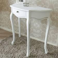 Half Moon Table Classic White Range Melody Maison