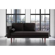 george oliver jabari mid century modern upholstered daybed with