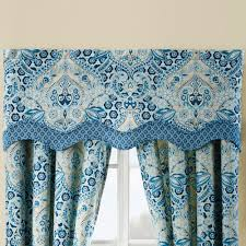 Valance Blue Moonlit Shadows Reversible Blue Quilt Set By Waverly