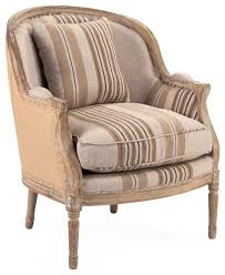 Brown Accent Chair Raymond Country Burlap Brown Stripe Club Chair