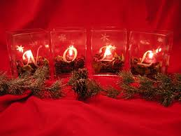 craft project christmas votive candles