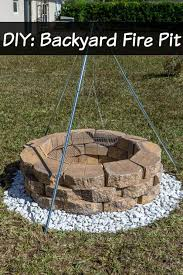 How To Build A Backyard Firepit by Diy Build A Backyard Fire Pit