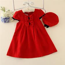 red baby dress design winter kids wear children frocks