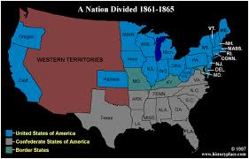 map of the us states in 1865 the history place u s civil war 1861 1865