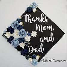 graduation decoration graduation cap topper flowers thanks and graduation