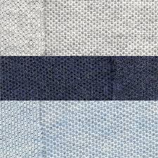light blue jersey fabric 1 meter light blue heather knit pique fabric cotton blend knit
