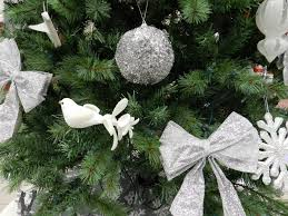 misc ornaments trees silver decorations holidays white