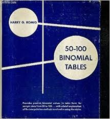Binomial Tables 50 100 Binomial Tables Harry G Romig Amazon Com Books