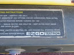 100 ez go 36v txt service manual for my ez go golf cart