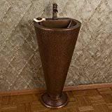 Copper Pedestal Amazon Com Copper Pedestal Sinks Bathroom Sinks Tools U0026 Home