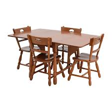 maple dining room furniture 83 off maple dining table with four matching chairs tables
