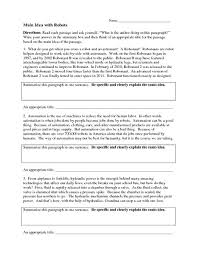 ideas collection main idea worksheets for 6th grade about download