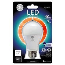 Led White Light Bulbs by Ge Led7dav3 827w 40 Watt Led Light Bulb Soft White By Ge
