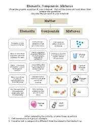 compounds and mixtures worksheet worksheets