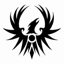 severe grey ink flying phoenix tattoo design tattooimages biz