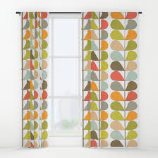 Retro Curtains Retro Mid Century Modern Pattern 3 Window Curtains By Bluemacaw