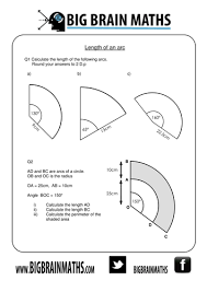 Area Of Sector Worksheet Areas Circumferences Of Circles Sectors Arcs By Busybob25